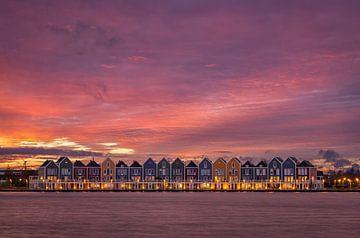 Regenbogen-Häuser von Jeroen Linnenkamp
