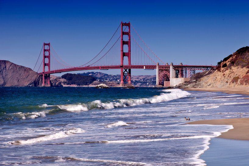Golden Gate Bridge - Baker Beach van Melanie Viola