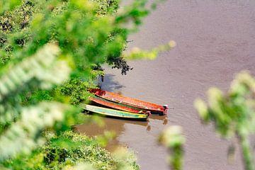 Boten in Rio Magdalena von Ronne Vinkx