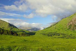 Les montagnes de Glen Etive, en Écosse. La beauté de la nature est difficile à exprimer en mots.