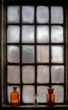 Raam St. Joriskerk historisch Amersfoort sur Watze D. de Haan