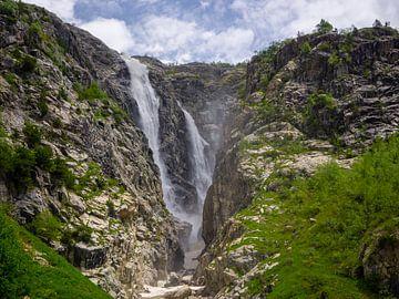 Vallée des chutes d'eau sur