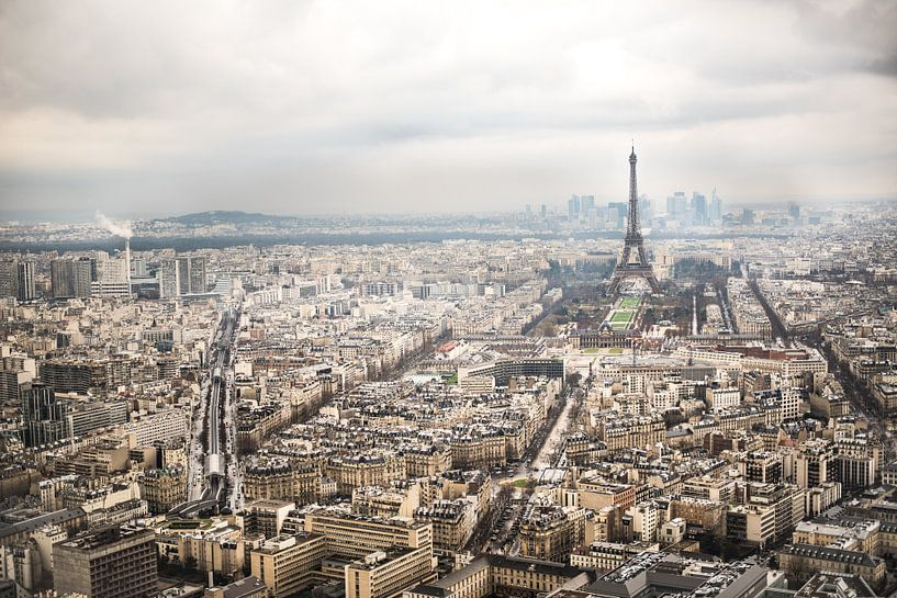 Uitzicht op Parijs en de Eiffeltoren van Celina Dorrestein
