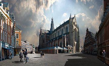 Haarlem Grote Markt von Aad Trompert