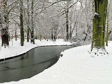 Sneeuw op landgoed Hoekenburg van Frans Rutten