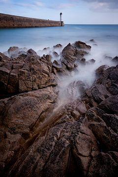 La côte bretonne sur