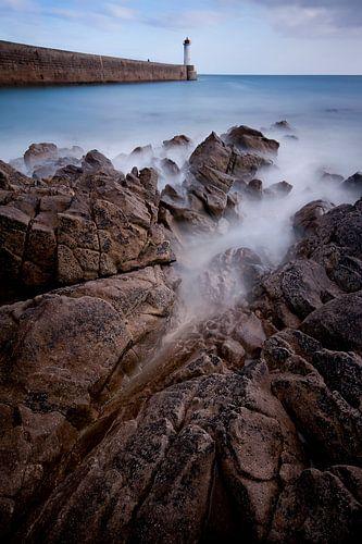 De kust van Bretagne van
