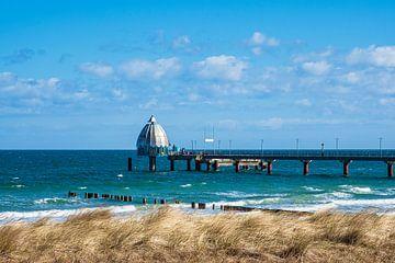 pier aan de baltische kust ini Zingst op Fischland-Darß van Rico Ködder