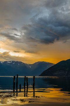 Sognefjord in Norway von Sjoerd van der Wal