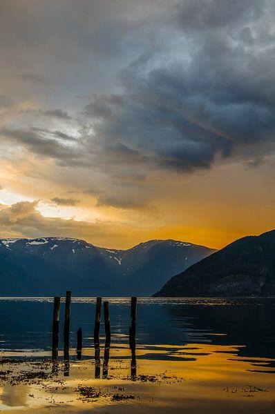 Sognefjord in Noorwegen van Sjoerd van der Wal