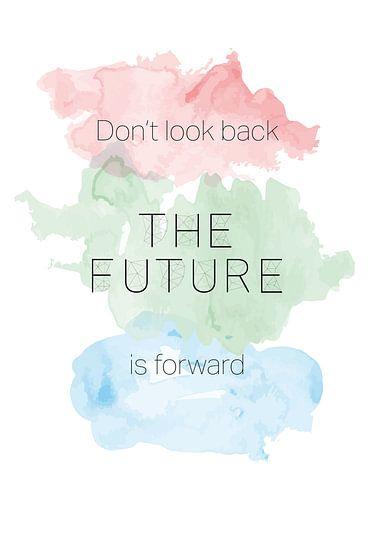 'The Future' in pastelkleuren van Design by Tessa