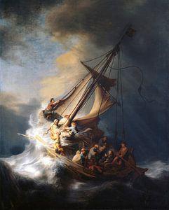Christus im Sturm auf dem See von Galiläa, Rembrandt vom Rhein
