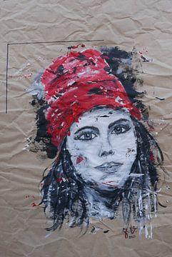 rode muts portret van jolanda verduin