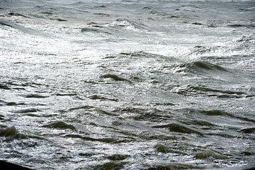 Meer mit Wellen von Sjoerd van der Hucht