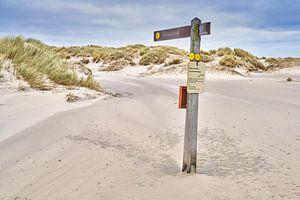 Duinen op vakantie eiland Texel van eric van der eijk