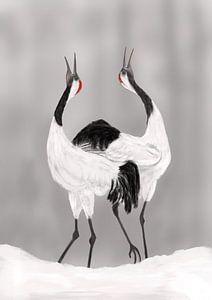 Balts van de Japanse kraanvogels van