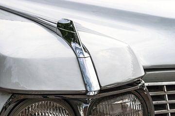 Detail van de koplampen van een klassieke Amerikaanse auto van Mark Scheper