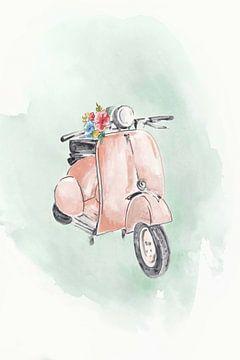Coral Bike, Eva Watts  van PI Creative Art