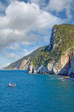 Küste an der Italienischen Riviera von Peter Eckert