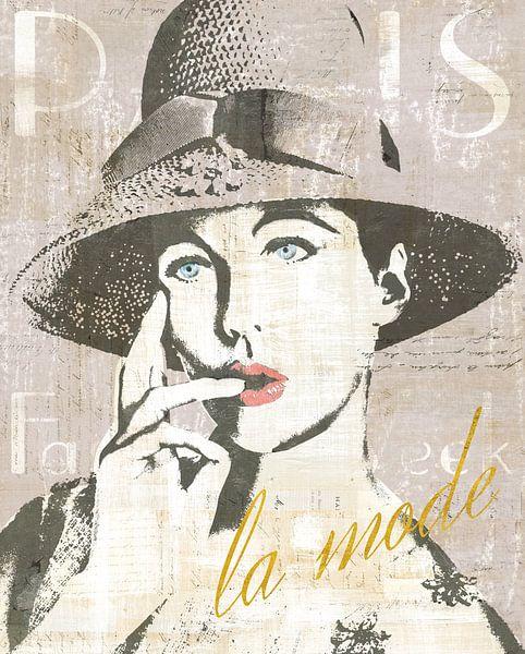 Fashion Week Paris IV Screenprint, Sue Schlabach sur Wild Apple