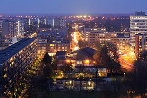 Overvecht in Utrecht gezien vanaf flat Van Lieflandlaan