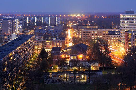 Overvecht in Utrecht gezien vanaf flat Van Lieflandlaan  van Donker Utrecht