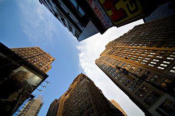 Gratte-ciel de New York en perpective sur