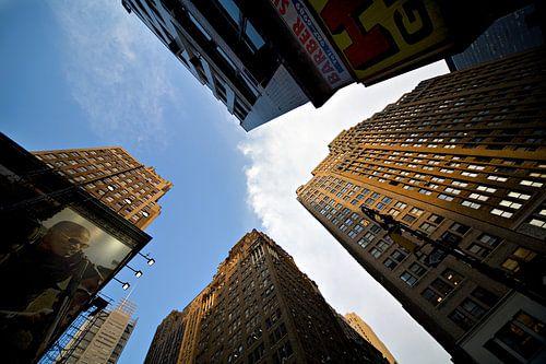 New York Wolkenkrabbers in perspectief
