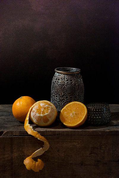 Stillleben Orangen von Ilona van der Burg