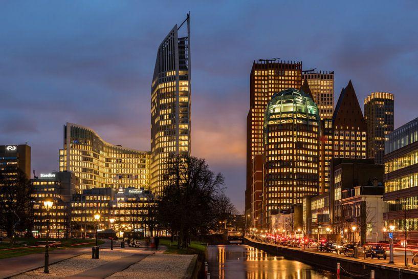 Megagrote foto van skyline van Den Haag (2) van Rob IJsselstein