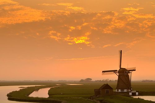 Molen op Texel von Sjoerd van der Wal