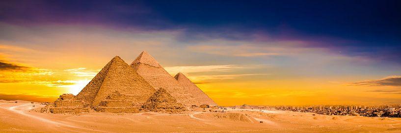 Piramides van Gizeh van Günter Albers