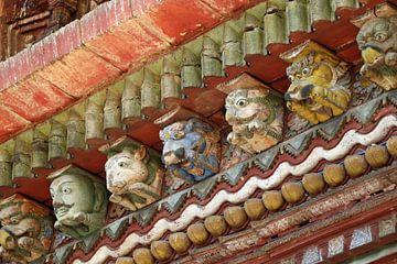 Detail des Tempels in Nepal von Marieke Funke