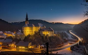 Le château de Weesenstein la nuit sur Sergej Nickel