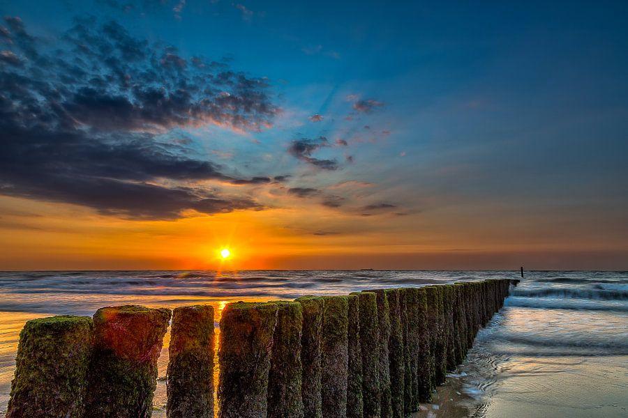 Cadzand Zonsondergang van Joram Janssen