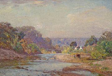 T C. Steele (Amerikaner, 1847-1926)-Landschaft Brookville