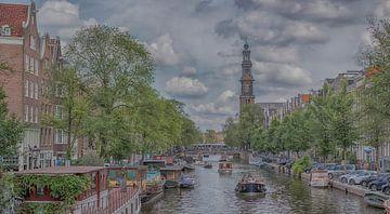 Panoramisch zicht op de Prinsengracht van Peter Bartelings Photography