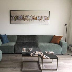 Klantfoto: Een vogelbok, Hector Giacomelli, op canvas