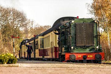 Vertrek Dieseltrein van ZLSM uit Simpelveld van