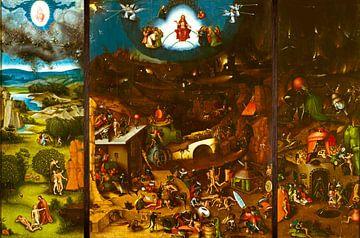Het Laatste Oordeel (volledig 3 luik / triptiek) - Schilderij naar Jheronimus Bosch - Jeroen Bosch