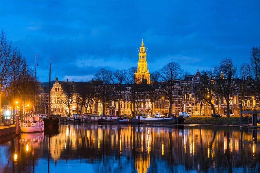 Der Aa-kerk Groningen bij Avond