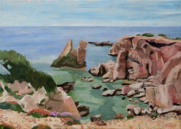 Rote Felsen auf Karpathos von Antonie van Gelder Beeldend kunstenaar