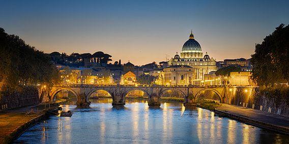 Vaticaan bij zonsondergang