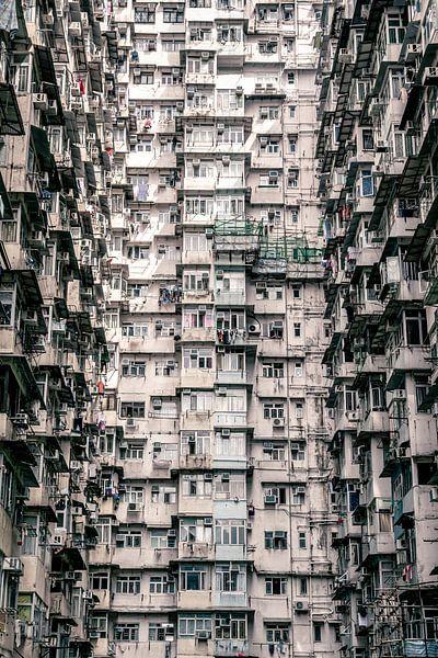 Een muur van appartementen van Mickéle Godderis