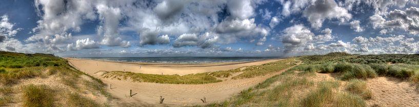 Panorama Hollandse kust van Jan Kranendonk