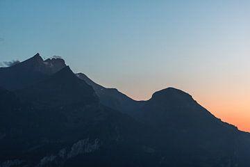 Sonnenuntergang in der Schweiz von Isa V