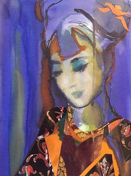 Iris Kimono von Helia Tayebi Art