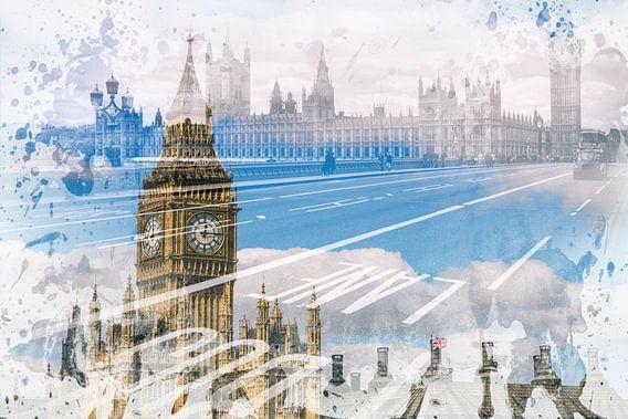 City Art Big Ben & Westminster Bridge van Melanie Viola