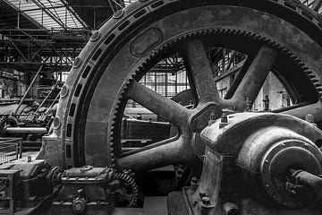 Verlaten en vervallen industrie in zwart-wit van Frans Nijland