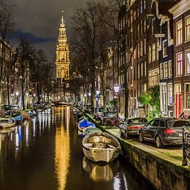 Amsterdam Groenburgwal met Zuiderkerk sur Xlix Fotografie
